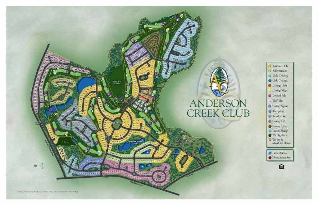 Anderson Creek Club Map New Homes in Spring Lake NC